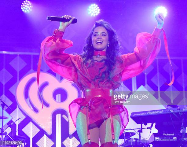 Camila Cabello performs onstage during 1027 KIIS FM's Jingle Ball 2019 Presented by Capital One at the Forum on December 6 2019 in Los Angeles...