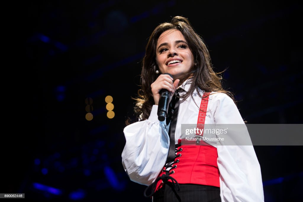 Camila Cabello performs onstage during KISS 108's Jingle Ball 2017 presented by Capital One at TD Garden on December 10, 2017 in Boston, Mass.