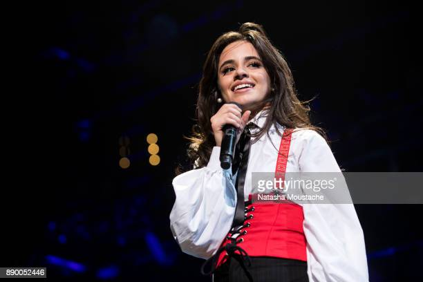 Camila Cabello performs onstage during KISS 108's Jingle Ball 2017 presented by Capital One at TD Garden on December 10 2017 in Boston Mass