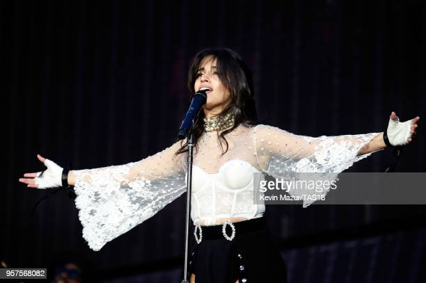 Camila Cabello performs onstage during Taylor Swift reputation Stadium Tour at Levi's Stadium on May 11 2018 in Santa Clara California