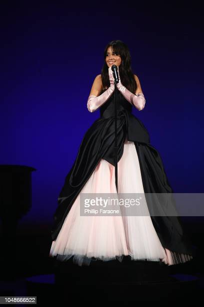 Camila Cabello performs onstage during the 2018 American Music Awards at Microsoft Theater on October 9 2018 in Los Angeles California