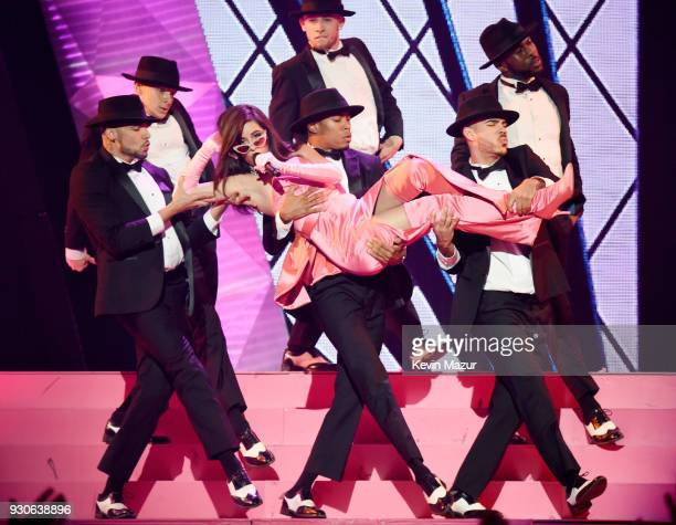Camila Cabello performs onstage during the 2018 iHeartRadio Music Awards which broadcasted live on TBS TNT and truTV at The Forum on March 11 2018 in...