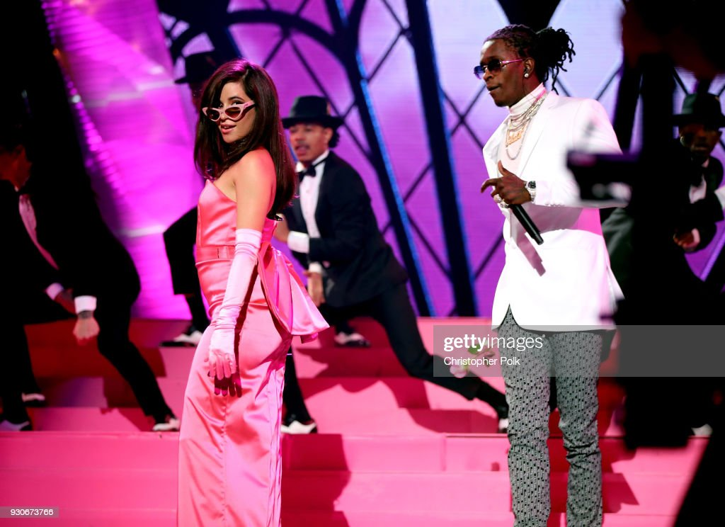 Camila Cabello performs onstage during the 2018 iHeartRadio Music Awards which broadcasted live on TBS, TNT, and truTV at The Forum on March 11, 2018 in Inglewood, California.