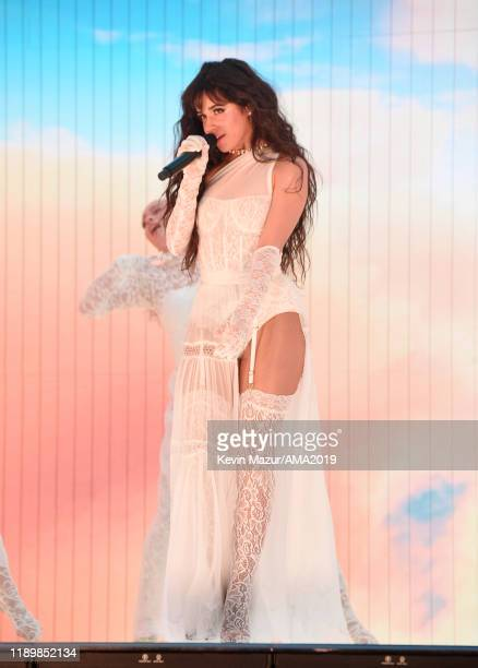 Camila Cabello performs onstage during the 2019 American Music Awards at Microsoft Theater on November 24 2019 in Los Angeles California