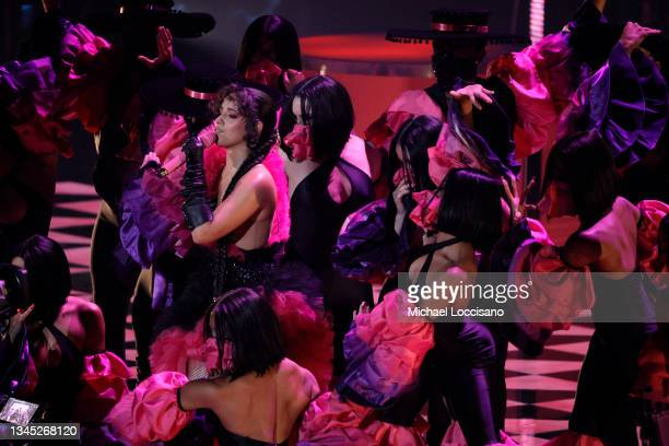 Camila Cabello performs onstage during the 2021 MTV Video Music Awards at Barclays Center on September 12, 2021 in the Brooklyn borough of New York...