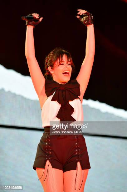 Camila Cabello performs onstage during the reputation Stadium Tour at Nissan Stadium on August 25 2018 in Nashville Tennessee