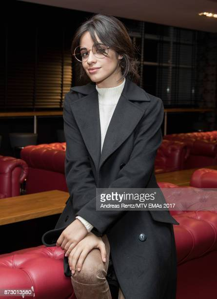 Camilla Cabello poses ahead of the MTV EMAs 2017 at The SSE Arena Wembley on November 11 2017 in London England The MTV EMAs 2017 is on November 12...