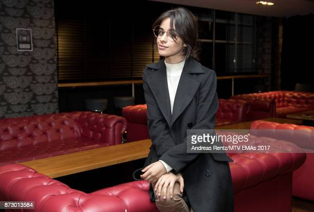 Camila Cabello poses ahead of the MTV EMAs 2017 at The SSE Arena Wembley on November 11 2017 in London England The MTV EMAs 2017 is on November 12...