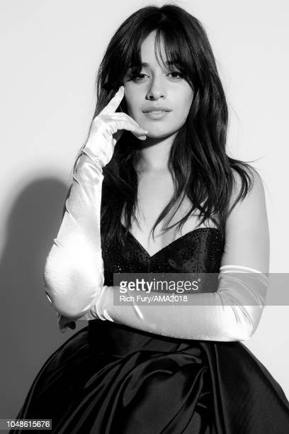 Camila Cabello poses for a portrait at the American Music Awards at Microsoft Theater on October 9 2018 in Los Angeles California