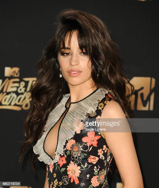 Camila Cabello poses in the press room at the 2017 MTV Movie and TV Awards at The Shrine Auditorium on May 7 2017 in Los Angeles California