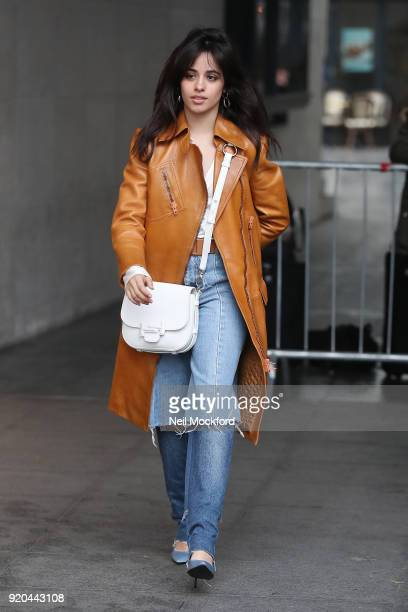Camila Cabello seen at BBC Radio One on February 19 2018 in London England