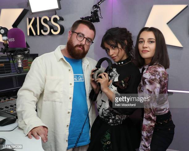 Camila Cabello visits Tom Green and Daisy Maskell on KISS Breakfast at the KISS FM UK Studios on October 03 2019 in London England