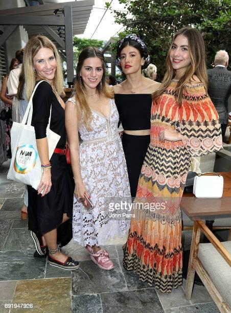 Camila Canabal Linda Sharkley Danie GomezOrtigoza and Claudia Vergara attend Miami Fashion Week Influencers Brunch at Quinto La Huella at East Hotel...