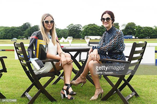 Camila Carri and Victoria Ceridono guests of Piaget attend the Gloucestershire Festival of Polo at Beaufort Polo Club on June 18 2016 in Tetbury...