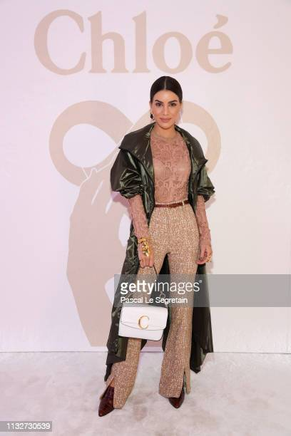 Camila Coehlo attends the Chloe show as part of the Paris Fashion Week Womenswear Fall/Winter 2019/2020 on February 28, 2019 in Paris, France.