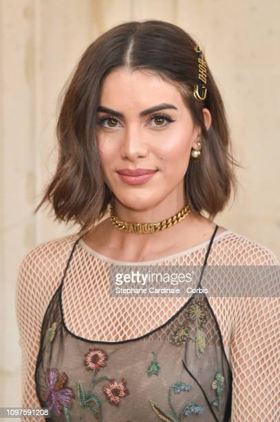 Camila Coehlo attends the Christian Dior Haute Couture Spring Summer 2019 show as part of Paris Fashion Week on January 21 2019 in Paris France