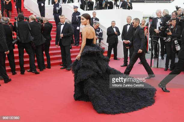 Camila Coehlo attends the screening of Everybody Knows and the opening gala during the 71st annual Cannes Film Festival at Palais des Festivals on...
