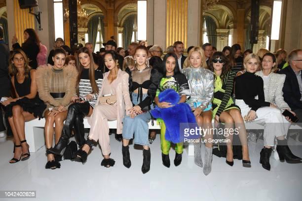 Camila Coehlo Negin Mirsalehi Aimee Song Irene Kim Aleali May Tina Leung Eleonora Carisi Caroline Daur and Helena Bordon attend the Balmain show as...