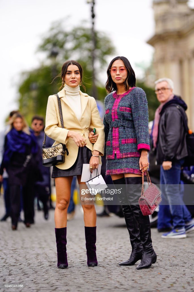 Street Style : Paris Fashion Week Womenswear Spring/Summer 2019 : Day Nine : Fotografía de noticias