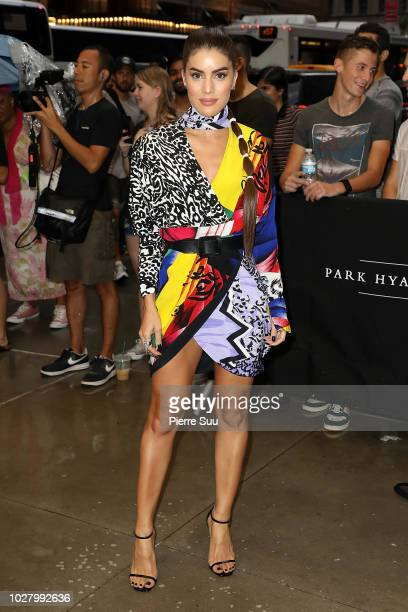 Camila Coelho arrives at the 6th annual fashion media awards at the Park Hyatt hotel on September 6 2018 in New York City