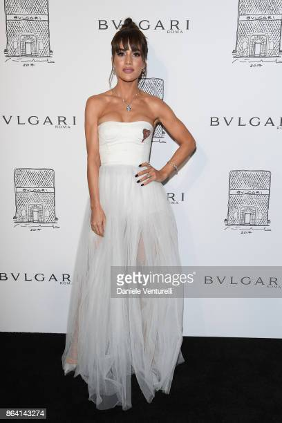 Camila Coelho attends a party to celebrate the Bvlgari Flagship Store Reopening on October 20 2017 in New York City