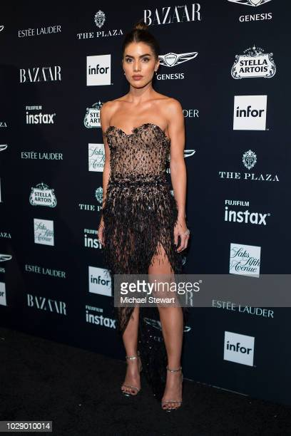 Camila Coelho attends Harper's BAZAAR ICONS at The Plaza Hotel on September 7 2018 in New York City