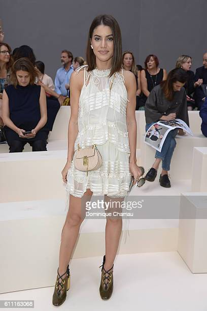 Camila Coelho attends the Chloe show as part of the Paris Fashion Week Womenswear Spring/Summer 2017 on September 29 2016 in Paris France