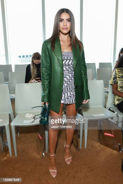 Camila Coelho attends the Maisie Wilen front row during New York Fashion Week: The Shows at Boom Boom Room on September 11, 2021 in New York City.