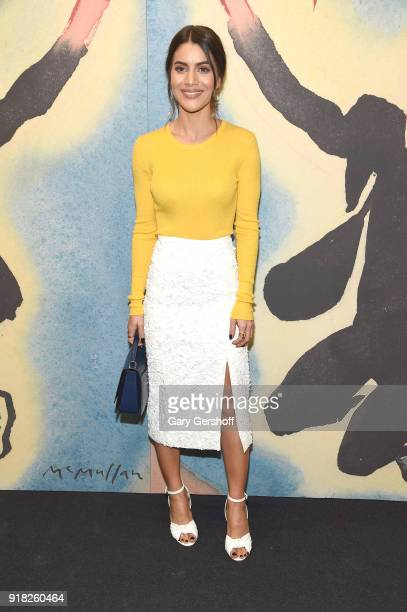 Camila Coelho attends the Michael Kors fashion show during New York Fashion Week at Vivian Beaumont Theatre on February 14 2018 in New York City
