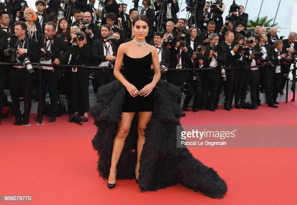 Camila Coelho attends the screening of Everybody Knows and the opening gala during the 71st annual Cannes Film Festival at Palais des Festivals on...