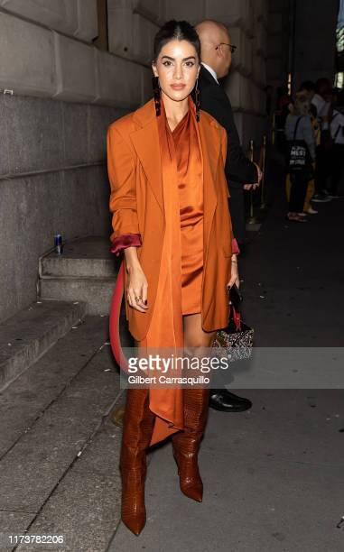 Camila Coelho Blogger is seen arriving to Oscar de la Renta fashion show during New York Fashion Week on September 10 2019 in New York City