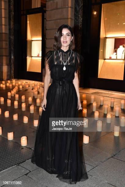 Camila Coelho is seen arriving at Boucheron dinner on January 20 2019 in Paris France