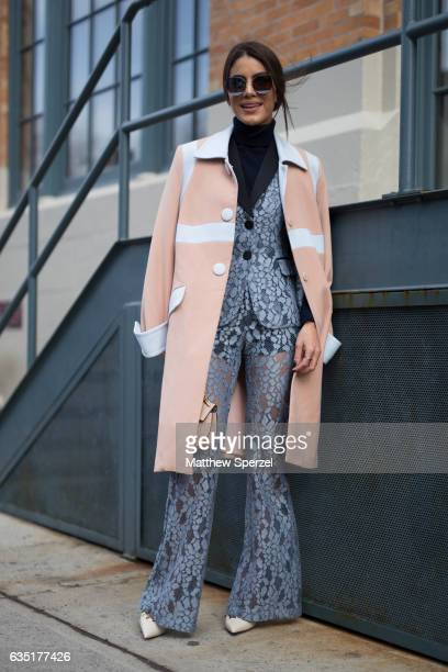 Camila Coelho is seen attending Carolina Herrera during New York Fashion Week wearing OLYMPIAH and ALEXIS on February 13 2017 in New York City