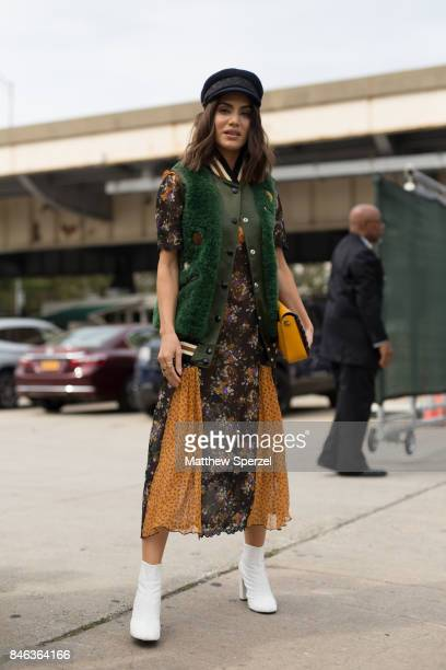 Camila Coelho is seen attending Coach during New York Fashion Week wearing Coach on September 12 2017 in New York City