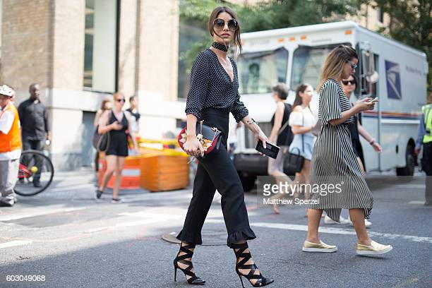 Camila Coelho is seen attending Rebecca Minkoff during New York Fashion Week on September 9 2016 in New York City