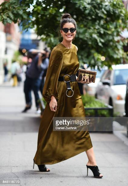 Camila Coelho is seen outside the Tibi show during New York Fashion Week Women's S/S 2018 on September 9 2017 in New York City