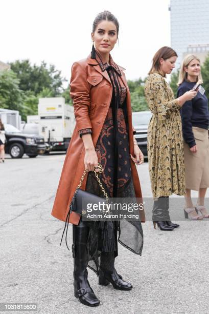 Camila Coelho seen wearing Coach in the streets of Manhattan during the New York Fashion Week on September 10 2018 in New York City