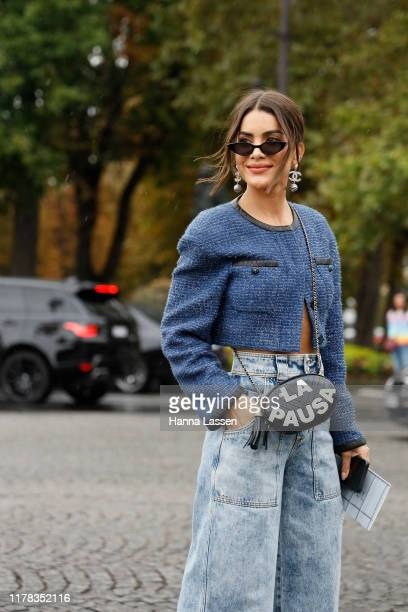 Camila Coelho wearing Chanel outside Chanel during Paris Fashion Week Womenswear Spring Summer 2020on October 01 2019 in Paris France