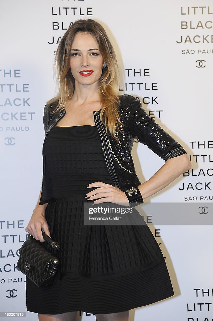 Camila Espinosa attends the Chanel Little Black Jacket event on October 29, 2013 in Sao Paulo, Brazil.