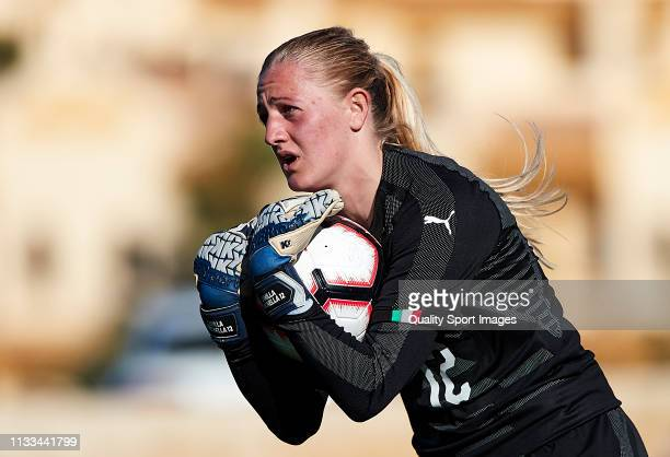 Camila Forcinella of Italy with the ball during the 14 Nations Tournament match between U19 Women's Italy and U19 Women's Iceland at La Manga Club on...