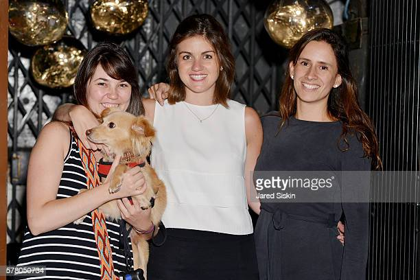 Camila Gomez Eileen Armella and Maria Pizarro attend Tom Dixon Celebrates New Store with Howard Street Party at The Shop New York on July 19 2016 in...