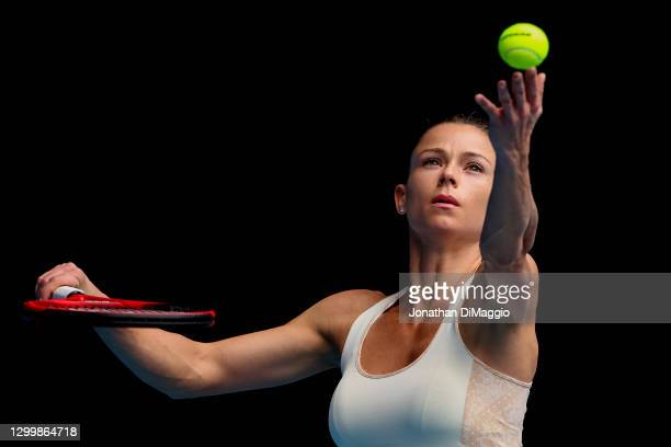 Camila Gorgi of Italy serves in her match against Sofia Kenin of the United States during day three of the WTA 500 Yarra Valley Classic at Melbourne...