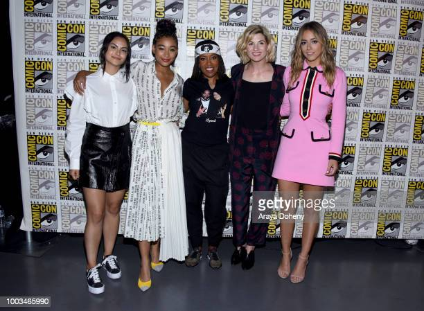 Camila Mendes Amandla Stenberg Regina King Jodie Whittaker and Chloe Bennet attend the Entertainment Weekly Women Who Kick Ass panel during ComicCon...