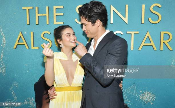 """Camila Mendes and Charles Melton attend the world premiere of Warner Bros """"The Sun Is Also A Star"""" at Pacific Theaters at the Grove on May 13, 2019..."""