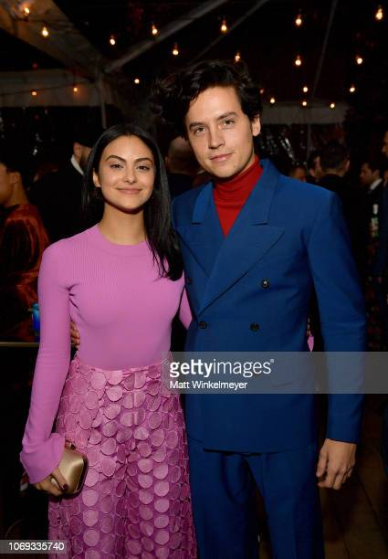 Camila Mendes and Cole Sprouse attends the 2018 GQ Men of the Year Party at a private residence on December 6, 2018 in Beverly Hills, California.