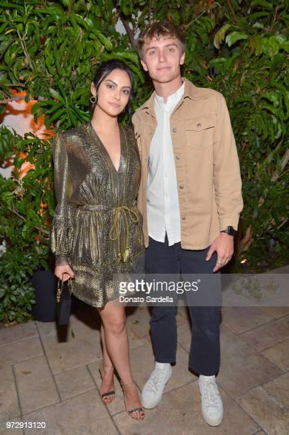 Camila Mendes and Hart Denton attend the Max Mara Celebration for Alexandra Shipp 2018 Women In Film Max Mara Face Of The Future Award Recipient at...