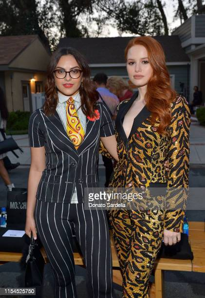 Camila Mendes and Madelaine Petsch attend the Moschino Spring/Summer 20 Menswear and Women's Resort Collection at Universal Studios Hollywood on June...