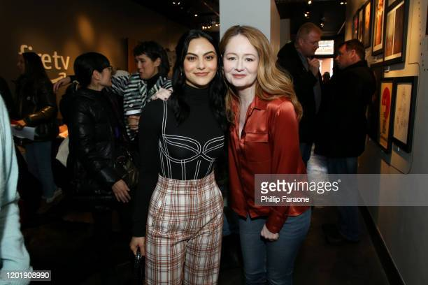 Camila Mendes and Miranda Otto attend The Vulture Spot presented by Amazon Fire TV 2020 at The Vulture Spot on January 25 2020 in Park City Utah