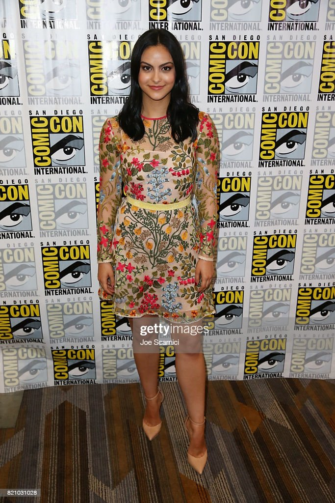 Camila Mendes arrives at the 'Riverdale' press line at Comic-Con International 2017 on July 22, 2017 in San Diego, California.