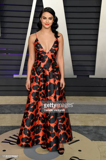 Camila Mendes attends 2019 Vanity Fair Oscar Party Hosted By Radhika Jones Arrivals at Wallis Annenberg Center for the Performing Arts on February 24...